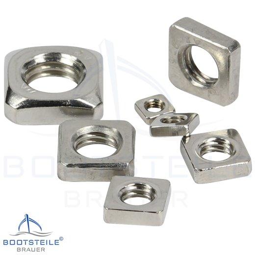 Vierkantmuttern, niedrige Form DIN 562 - Edelstahl  A4